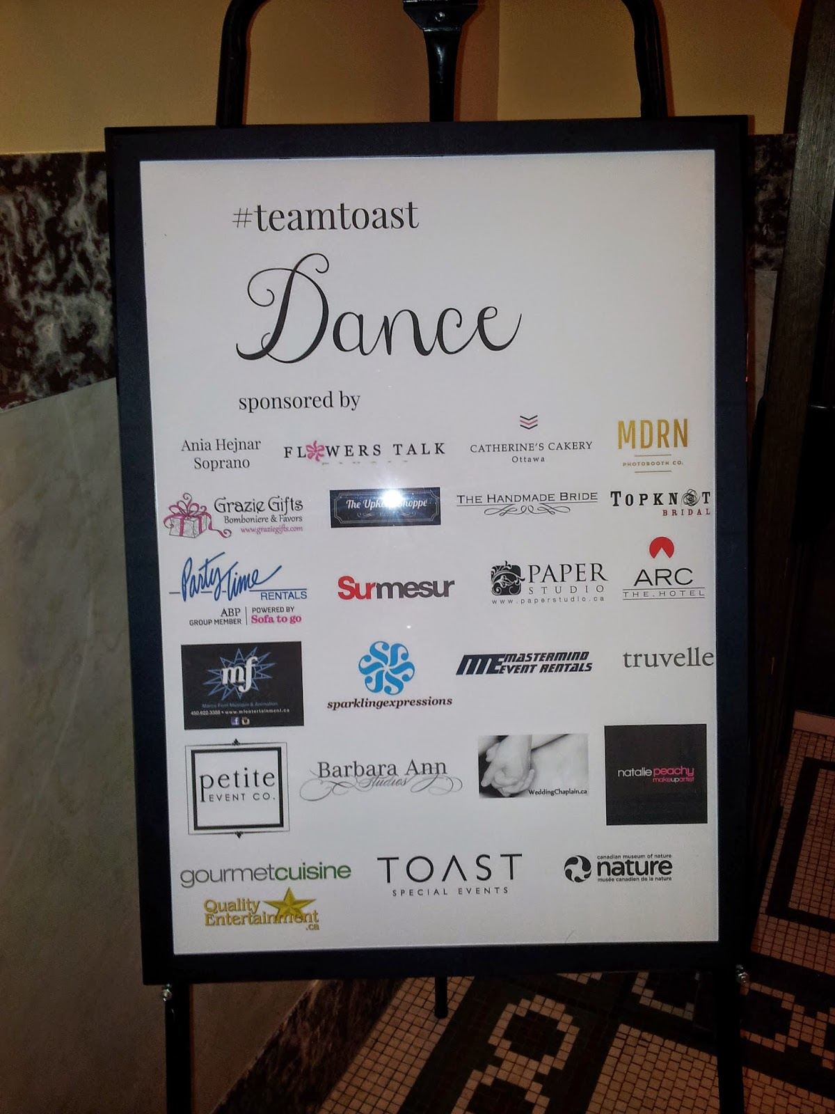 Team Toast Wedding Dance Hall Vendors
