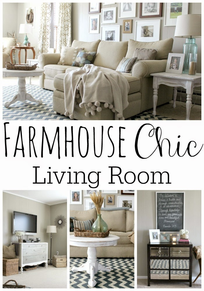 Grace lee cottage january 2015 for Modern farmhouse living room furniture