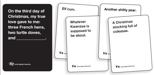 instructions cards against humanity