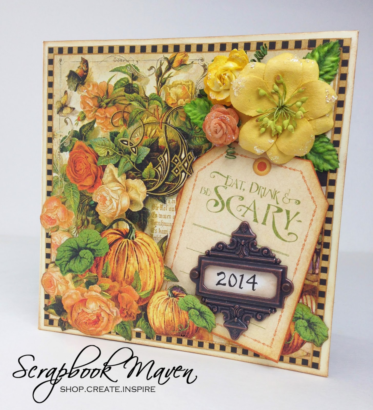 Halloween Fall Mini Album using Graphic 45 An Eerie Tale for Scrapbook Maven