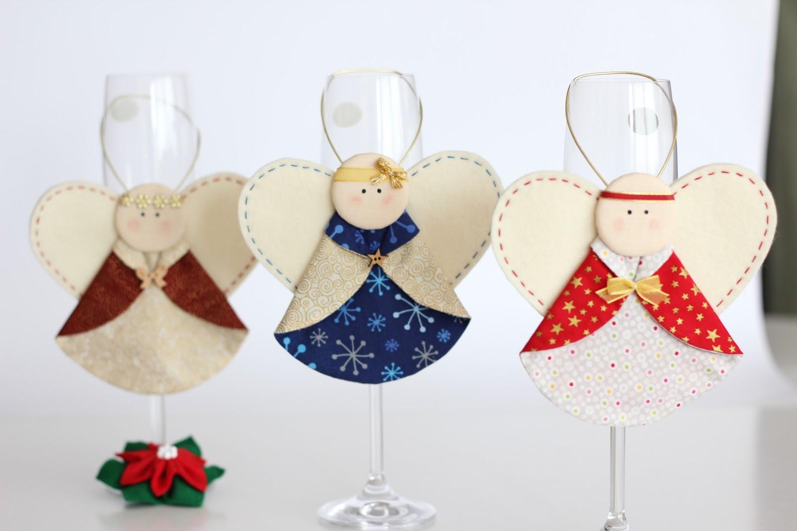 Mi hogar de patchwork angeles de navidad - Angeles de navidad manualidades ...
