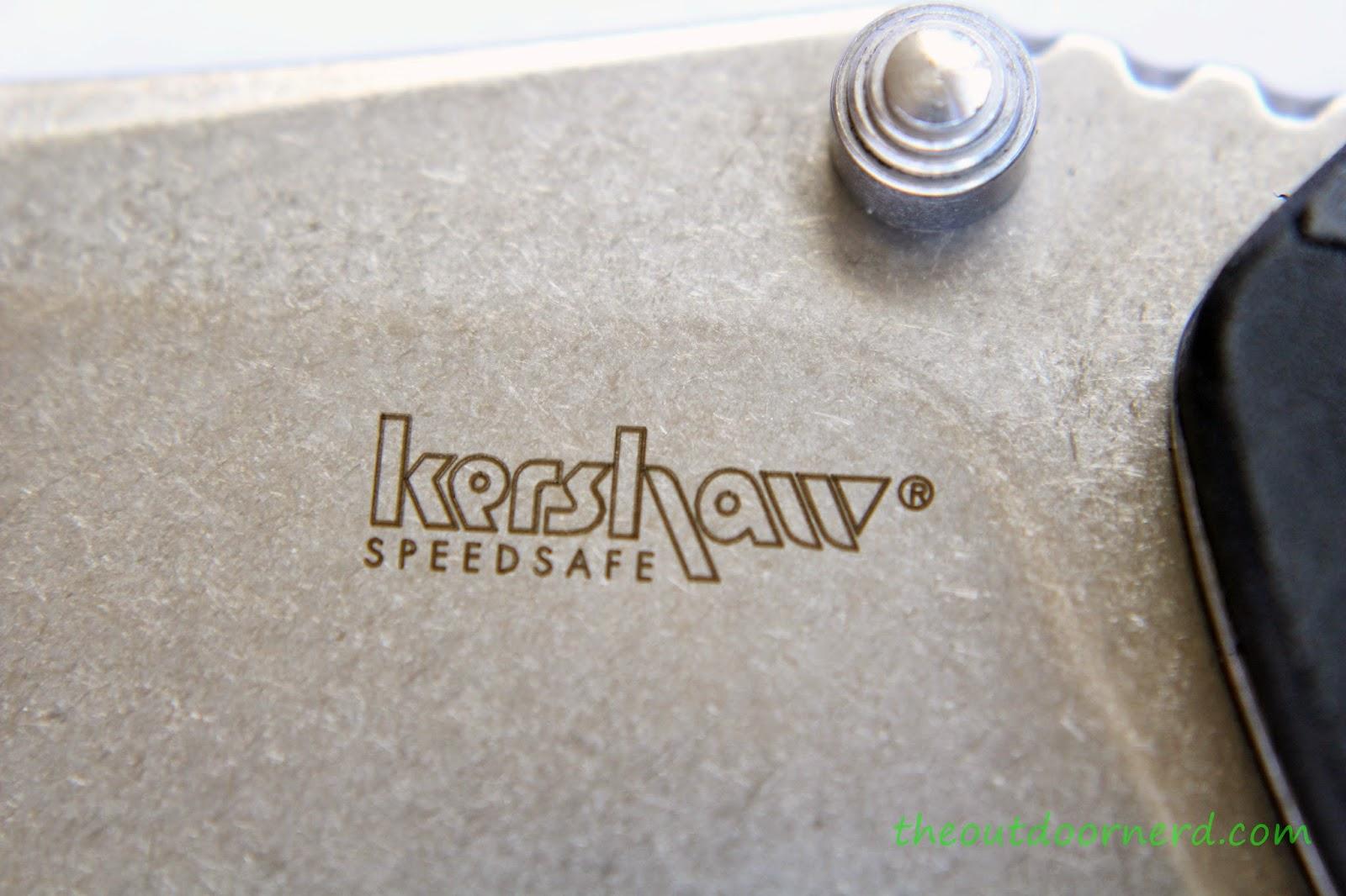 Kershaw Swerve EDC Pocket Knife: Product View - Logo