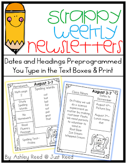 https://www.teacherspayteachers.com/Product/Weekly-Newsletters-Scrappy-Editable-Ink-Friendly-1933916