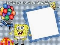 Moldura Bob Esponja para Lembrancinha de aniversario