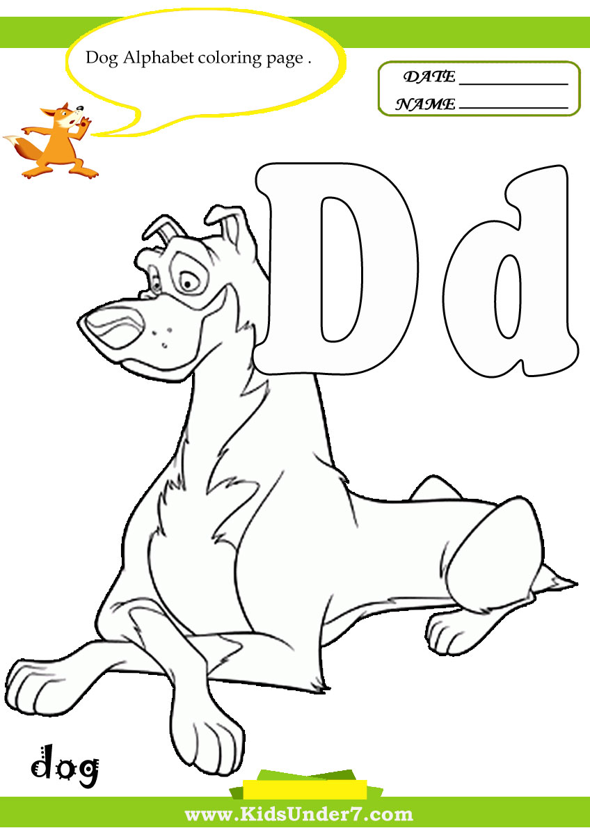 d for dog coloring pages - photo #31