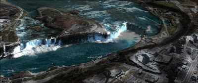 Niagara Falls - Dry Falls comparison.