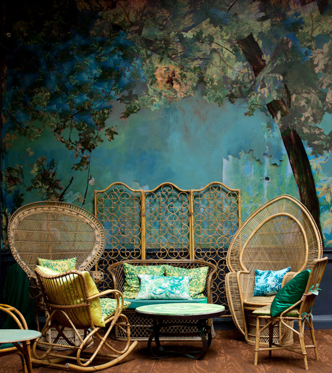Plumsiena glade an enchanted forest for Enchanted forest wall mural