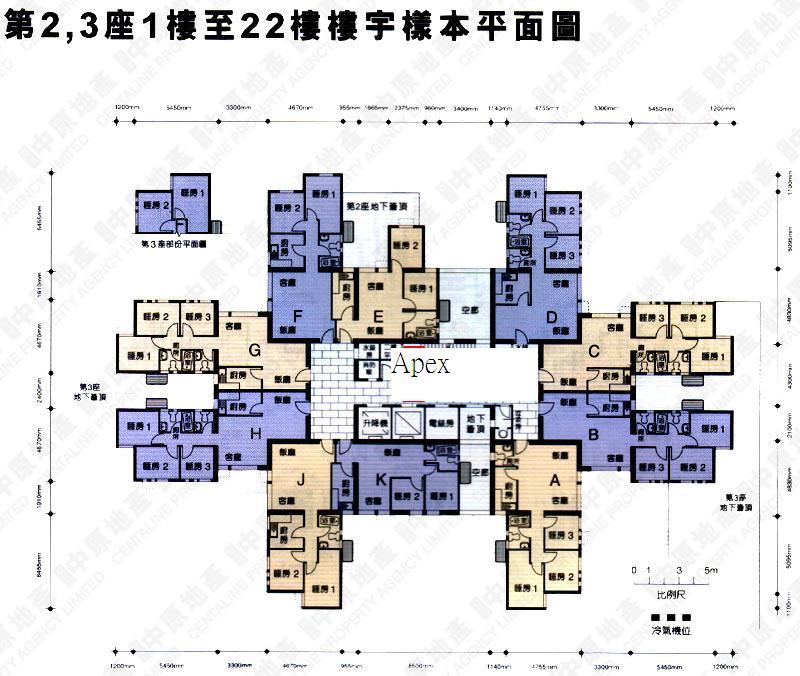 富榮花園平面圖 Apex Design Company