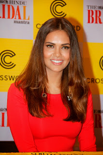 Esha Gupta in Red Dress at 5th Hindu Bridal Mantra Magazine Issue Launch In Mumbai
