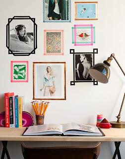 decorando com fitas adesiva móveis e paredes