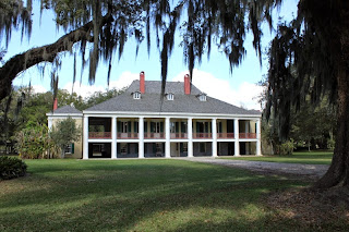 Destrehan Plantation, 1787, antebellum plantation located 25 miles upriver from New Orleans