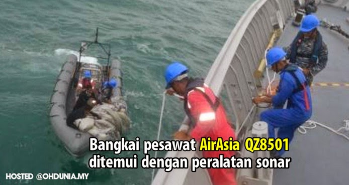 Bangkai pesawat AirAsia QZ8501 ditemui dengan Peralatan Sonar