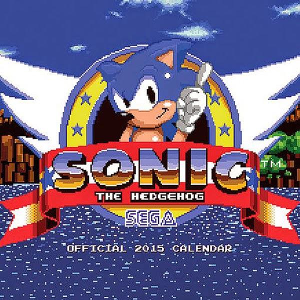 Calendario Sonic 2015 de Sega