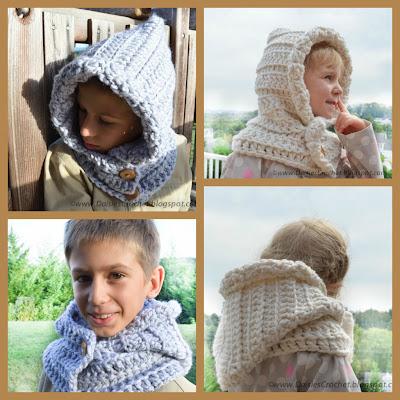 unisex crochet hood pattern