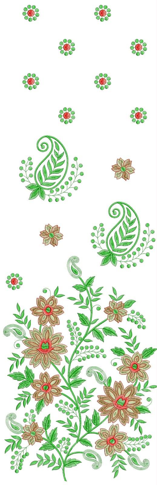 Saree Daman Concept Embroidery Desgin Tips Techniques Needlenthread Com