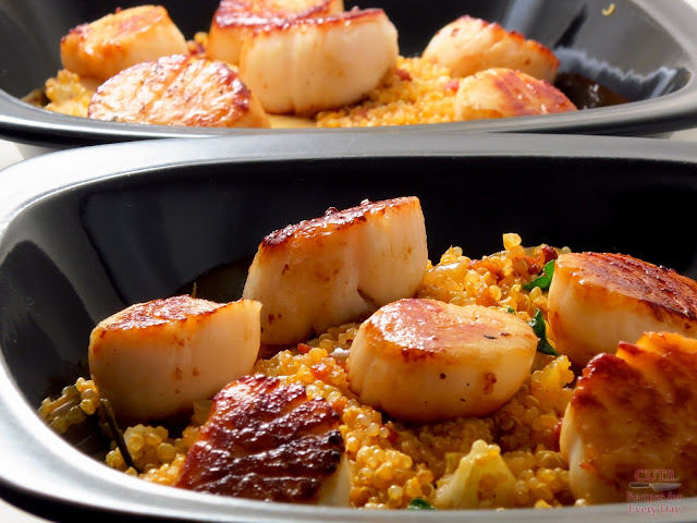 browned scallops
