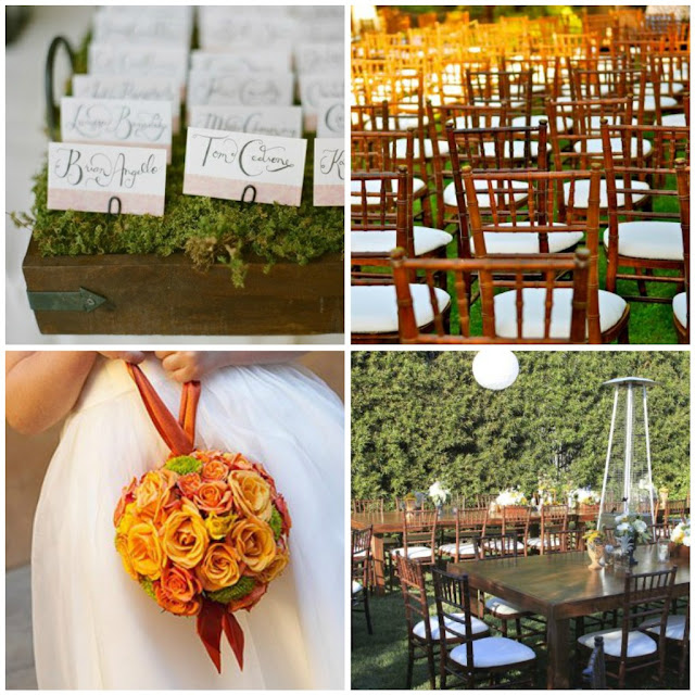 For this lovely outdoor barn wedding we selected large wooden tables and