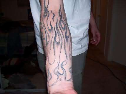 amazing fire flame tattoo designs great tattoos. Black Bedroom Furniture Sets. Home Design Ideas