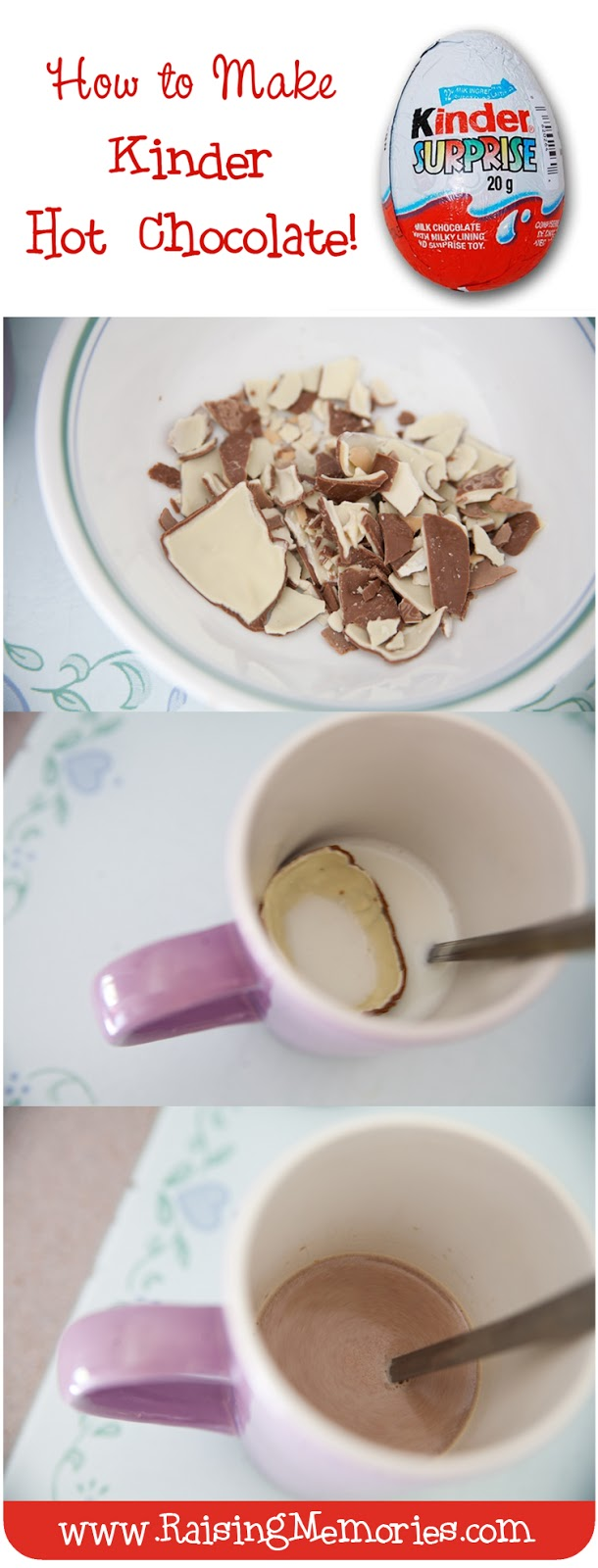 Raising Memories: How To Make Hot Chocolate From Kinder Eggs ...