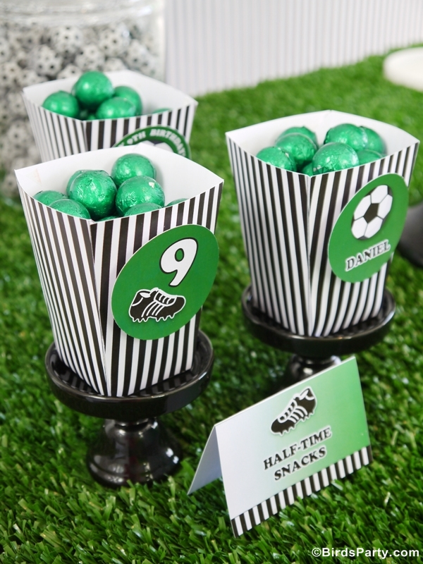 World Cup Party Ideas: Soccer Football Birthday Party Candy
