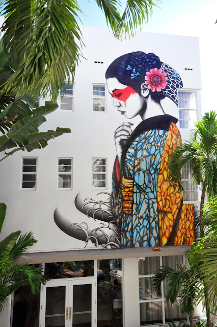 """Indocea"" New Street Art Mural By British Artist Fin DAC in Miami, Florida."