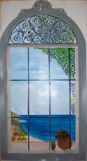 Trompe l 39 oeil murales decorazione pareti camerette bambini tutti i video dei miei lavori - Trompe l oeil finestra ...