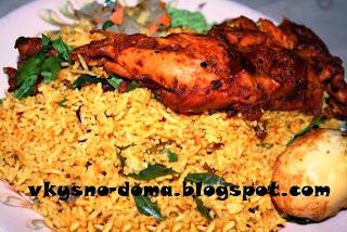 Бириани с курицей. Индийская кухня.