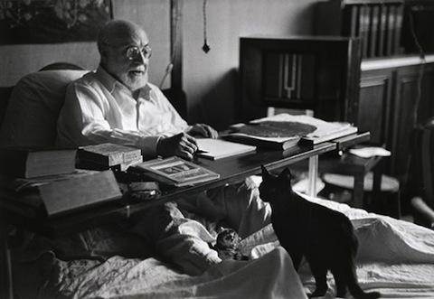 Henri Matisse with his cat