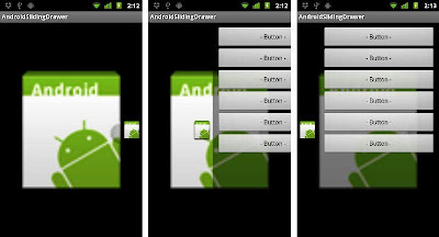 Android: Horizontal Sliding Drawer
