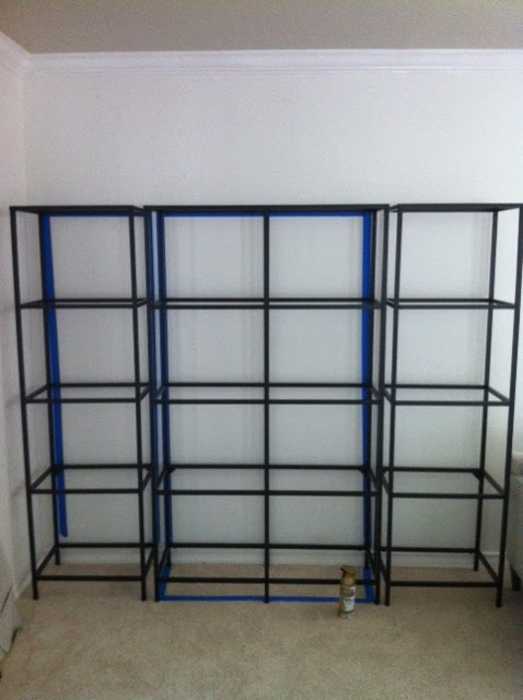 Lauren kelly gold etagere ikea hack - Etagere invisible ikea ...
