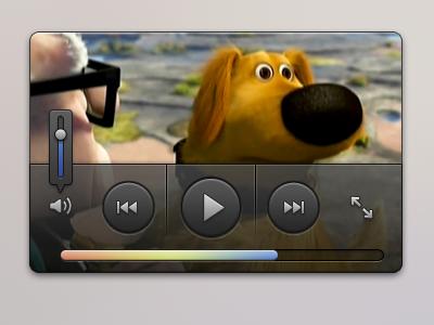 Mini video player UI