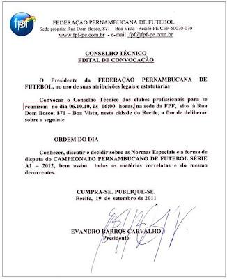 Os primeiros passos do Pernambucano 2012
