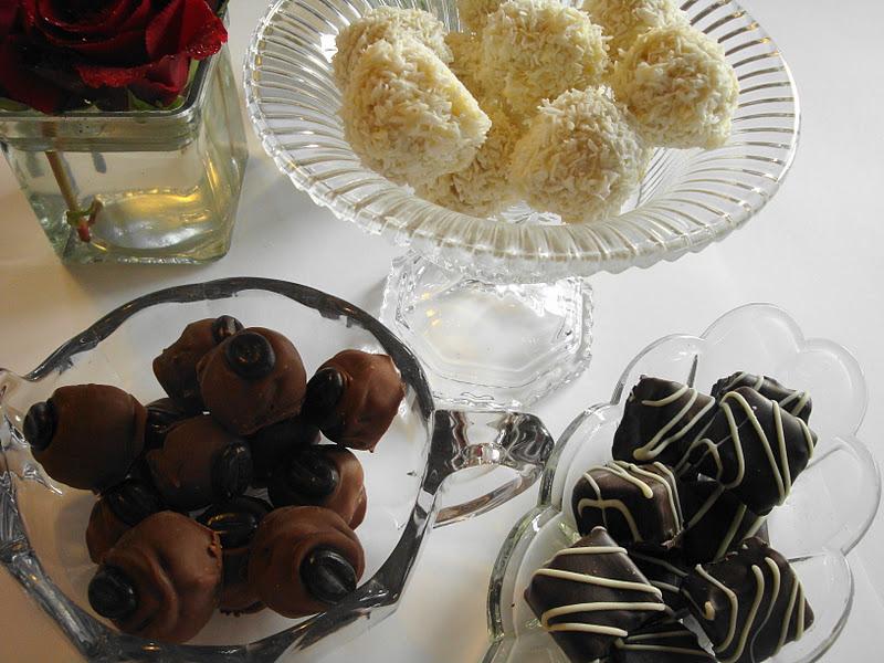 Chokolade konfekt til jul i år blev det godt nok lavet lidt sent