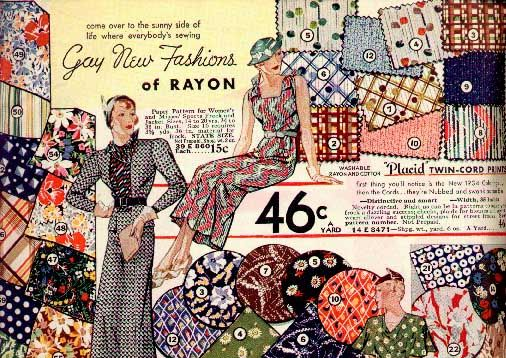 Flashback Summer: The History of Rayon and How to Care for It - vintage fabrics, sewing