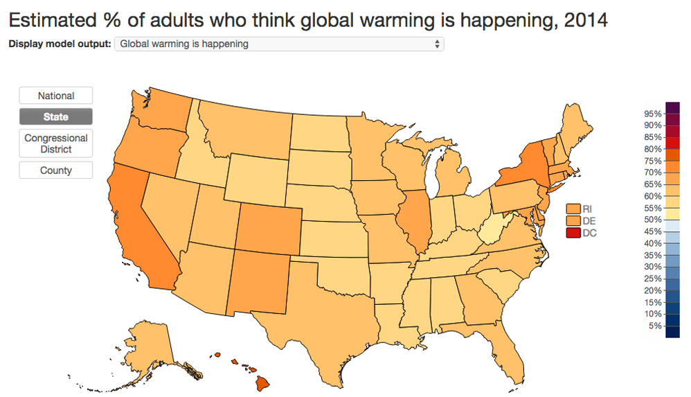 Socraticgadfly more ppl think global warming is real but think