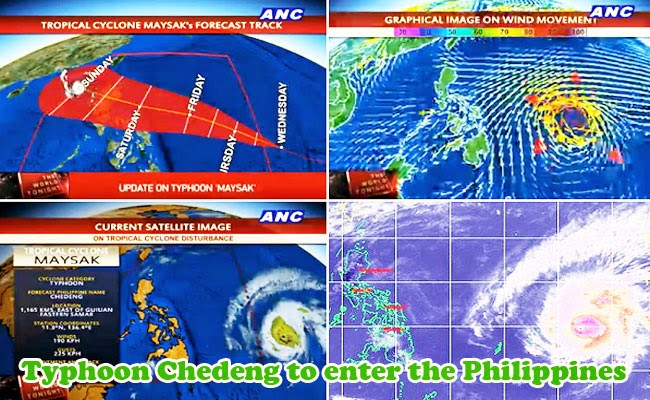 Philippine Government Warn People to be Prepared for Typhoon Chedeng (Maysak)