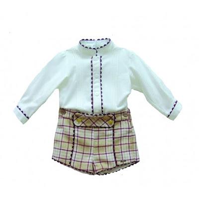 pantalon y camisa niño dolce petit