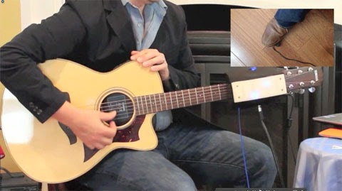 RoboTar: Accessible guitar system with foot pedal switch