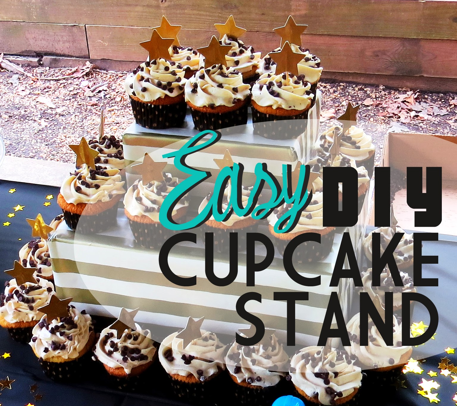 the eagals nest easy diy cupcake stand. Black Bedroom Furniture Sets. Home Design Ideas