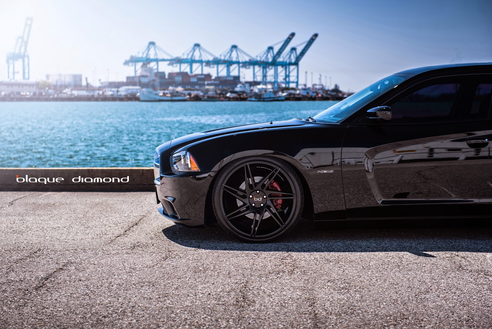 sitting low on 22 inch bd 1s - 2013 Dodge Charger Black Rims
