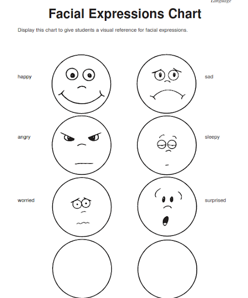Feelings Expression Worksheets