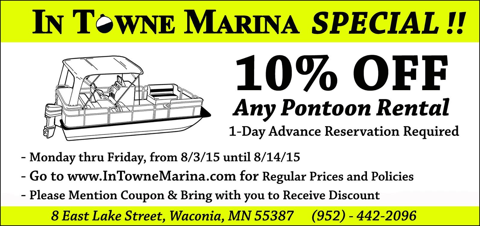 In towne marina news feed lake waconia fishing report 7 for Lake waconia fishing report