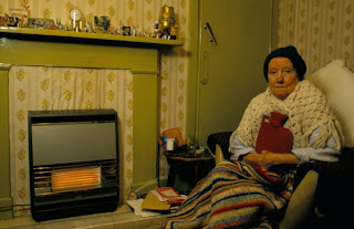 Irish people have been turning off the heating in their homes because of the cost of gas