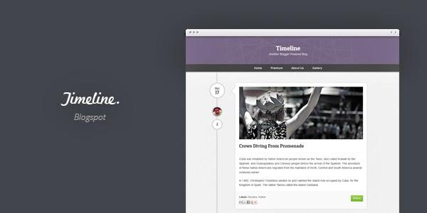 Timeline Blogger Template