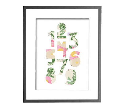 Modern Floral Numbers // Craftivity Designs