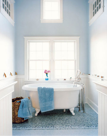 Ez decorating know how bathroom designs the nautical for Bathroom ideas light blue