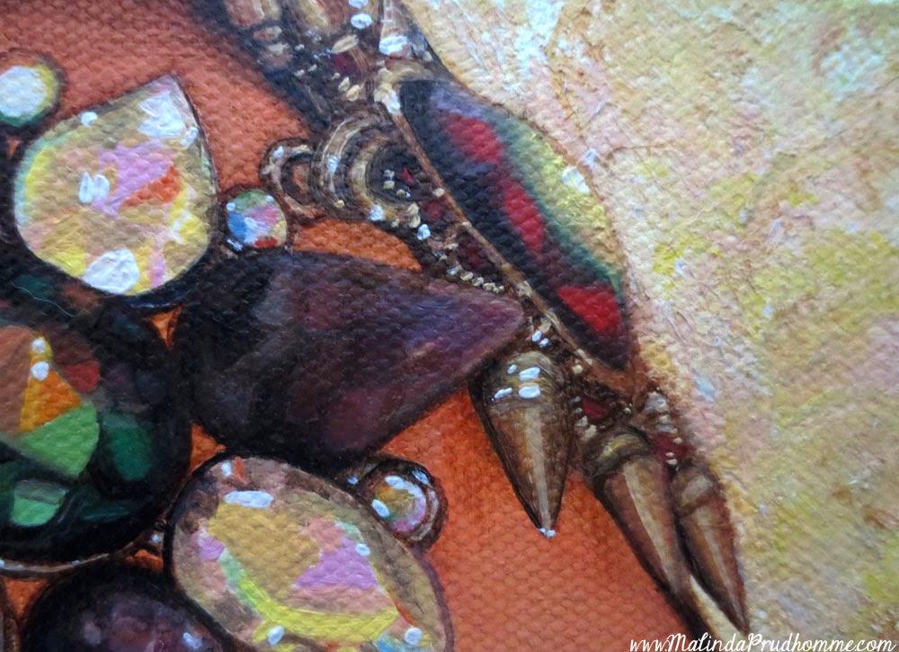 self portrait, toronto portrait artist, malinda prudhomme, malinda art, beauty art, gem painting, mixed media art, portrait artist, realistic portrait, realistic art, realism, portraiture, canadian portrait artist, diamond painting