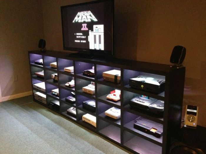 Man Cave In Storage Unit : Homemade video game cabinet damn cool pictures