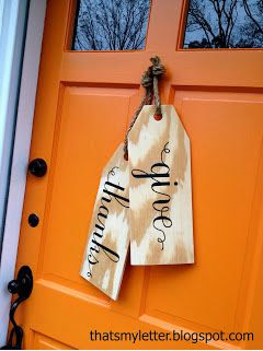 Ballard Designs Inspired DIY Wood Tags
