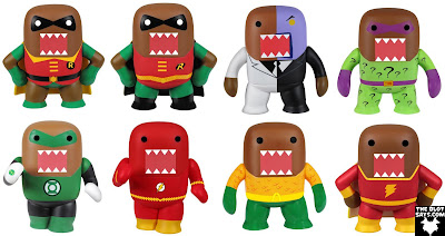 DC Comics x Domo Mystery Minis Blind Box Mini Figure Series by Funko - Domo as Classic Robin, New 52 Robin, Two-Face, The Riddler, Green Lantern, The Flash, Aquaman & Shazam